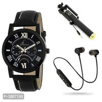 Combo of Stylish and Trendy Analog Watch with Accessories