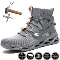 2021 Male Work Boots Indestructible Safety Shoes Men Steel Toe Shoes Puncture-Proof Work Sneakers Male Shoes Adult Work Shoes - allindestructibleshoes