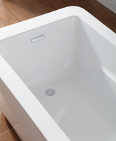 """Morgan Combo Bathtub with Faucet - 60"""" Acrylic White - MyDecoDeals"""