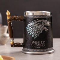 3D Gothic Goblet Iron Throne Tankard Stainless Steel Resin Beer Mugs - The Uggly Muggly