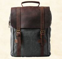 The Cartographer - Vintage Canvas Backpack