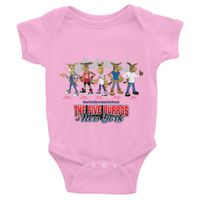The Five Burros Of New York©-New York Born-Street Logo-Infant Bodysuit - The Five Burros of New York