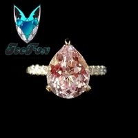 10x8mm, 3ct Portuguese Flower Cut Cultured Pink Sapphire set in a 14K White Gold Double Hidden Halo Setting - In The IceBox