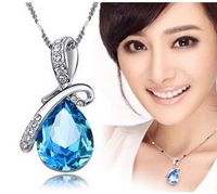 Austria Crystal Jewelry Water Drop Pendants Necklaces