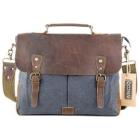 Gootium Canvas Leather Messenger Laptop Bag #21108