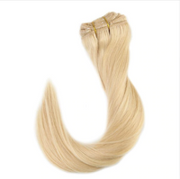 Blonde Human Hair Clip in Extensions - Candy Glam Dolls/ Hair Extensions