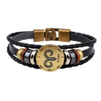 12 Constellations Leather Fashion Bracelet - DirectM