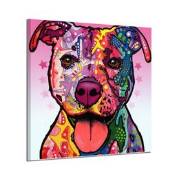 Colorful Dog Canvas - The Angeles Boutique