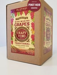 PINOT NOIR GRAPES Premium Wine Kit – Pinot Noir – Makes wine in 4 -5 weeks - CraftVino