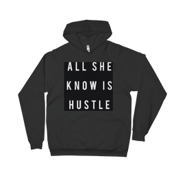 CONCEPT TEES AN HATS,ALL SHE KNOW IS HUSTLE(WHITE PRINT) - CONCEPT TEES