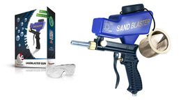 LEMATEC Portable Sand Blaster Media Blasting Nozzle Gun With Glass & Mesh Air Tools - LE-LEMATEC