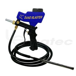 LEMATEC Gravity Feed With Siphon Feed Sandblaster Gun With Hose Sandblasting Gun Kit - LE-LEMATEC