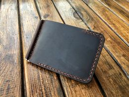 Leather Money Clip (Brown) - Nebo Workshop