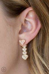 Heartthrob Twinkle-Rose Gold - Lindas $5 Bling Treasure