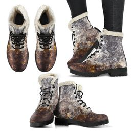 Faux Fur Leather Boot - Wet Rock Design