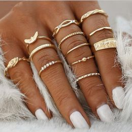 12 pc/set Charm Gold Ring Set - Save more live more for less