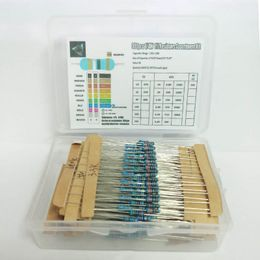 Default Title - 1 Box 300Pcs 10 -1M Ohm 1/4w Resistance 1% Metal Film Resistor Resistance Assortment Kit Set 30 Kinds Each 10pcs