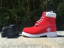 Timberland Boots for Men Red - KAUBI TRENDING EMPIRE
