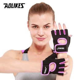 1 Pair Men Women Gym Half Finger Sports Fitness - mytikstore