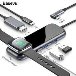 Baseus USB Type C HUB to HDMI RJ45 Multi USB 3.0 USB3.0 Power Adapter For MacBook Pro Air Dock 3 Port USB-C USB HUB Splitter Hab - Starttech Online Market