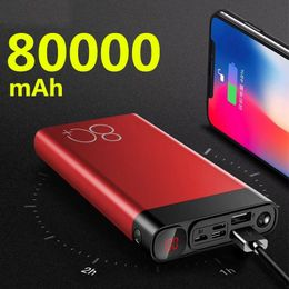 Power Bank 80000mAh Fast Quick Charge Dual USB Large Capacity Portable for Phone