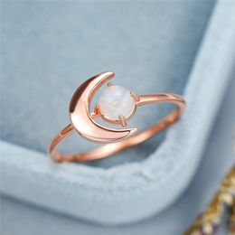 Rose Gold Moon Ring - Rose Gold Trends
