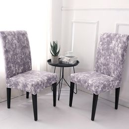 Chair Cover Light Purple Printed Polyester Slipcovers