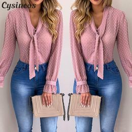 Cysincos Chiffon Blouses  Autumn Fashion - aleman fashion