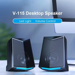 2020 Newest Full Range 3D Stereo Subwoofer Bass PC Desktop Speaker Portable Music DJ USB Computer Speakers for Laptop TV - GreatLakesSmartpro