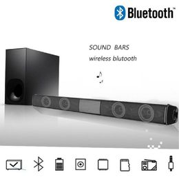 20W Home TV Speaker Wireless Bluetooth Speaker Soundbar Sound Bar Sound System Bass Stereo Music Player Boom Box with FM Radio - GreatLakesSmartpro