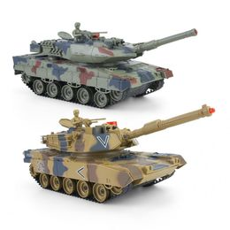 1:24 Plastic RC Tank Toy Remote Control Kid Children Toy Simulated Military Model Toys For Children - mybabyengineer
