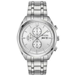 Bulova Men's Chronograph Quartz Silver Multi Dial Calendar Watch 96C135 - Setnom