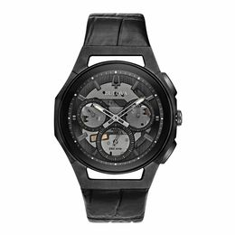 Bulova Men's CURV Collection Quartz Skeleton Black Multi Dial 43mm Watch 98A223 - Setnom