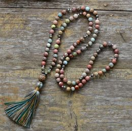 The Pyrite, Jasper & Agate Tassel Necklace - Soul Sound Spirited