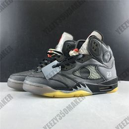 2020 OG Jumpman 5 5s 3m Reflective shoelace grey white Mens Basketball Shoes Athletic Sport Sneakers Designers Trainers CT8480-001 40-47 - Bed N Things