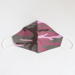 Face Fitting, Adjustable, Filtered, Fashion Face Cover - Pink Camo - Adult - Mad Masks USA