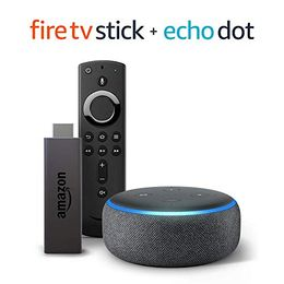 Fire TV Stick bundle with Echo Dot (3rd Gen - Charcoal) - incredibleoff