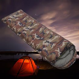 Cotton Camouflage Camping Envelope Sleeping Bag.
