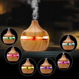 300ml USB Aroma air diffuser wood lamp Ultrasonic humidifier Essential oil Aromatherapy cool mist maker home decor decoration