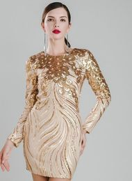 Gold Sequin Embellished Dress - Sweetalicious Boutique