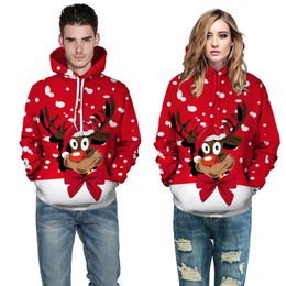 Christmas Snowman 3D Printing Unisex Men Women Santa Claus Christmas Novelty Ugly Christmas Sweater Hooded Sweater Warm Sweater Baseball Uniform - Krystal-online