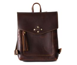 Leather Backpack - Handbags and Tote Bags