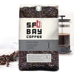 SF Bay Coffee French Roast Whole Bean 2LB (32 Ounce) Dark Roast
