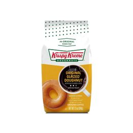 Krispy Kreme Original Glazed Doughnut, Ground Coffee, Flavored Medium Roast, Bagged 12 oz
