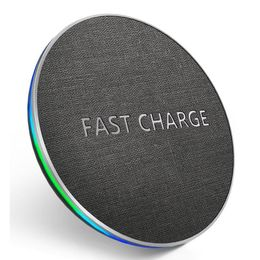 10W Fast Wireless Charging Pad For Samsung S11 S10 Note 10 9 8 For iPhone 11 Pro X Xs Max Xr 8 Plus - phonecasecheaper