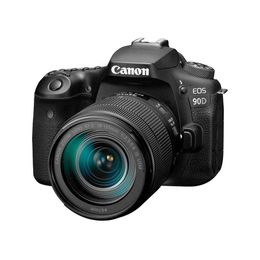 Canon DSLR Camera [EOS 90D] with 18-135 is USM Lens | Built-in Wi-Fi, Bluetooth, DIGIC 8 Image Processor, 4K Video, Dual Pixel CMOS AF, and 3.0 Inch Vari-Angle Touch LCD Screen, Black - figscope