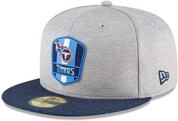 New Era Tennessee Titans NFL Sideline 18 Road On Field Cap 59fifty Fitted OTC - migite