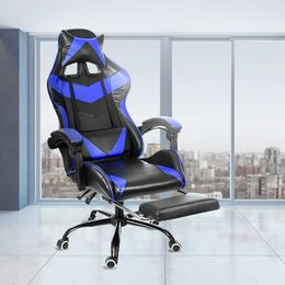Leather Office Gaming Chair Home Internet Cafe Racing Chair WCG Gaming Ergonomic Computer Chair Swivel Lifting Lying Gamer Chair - Jacoby mcmorris