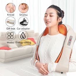 U Shape Electrical Shiatsu Back Neck Shoulder Body Massager - comfortrelax