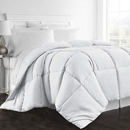 Beckham Hotel Collection 1300 Series - All Season - Luxury Goose Down Alternative Comforter - Hypoallergenic -Queen/Full - White - We Love Our Beds